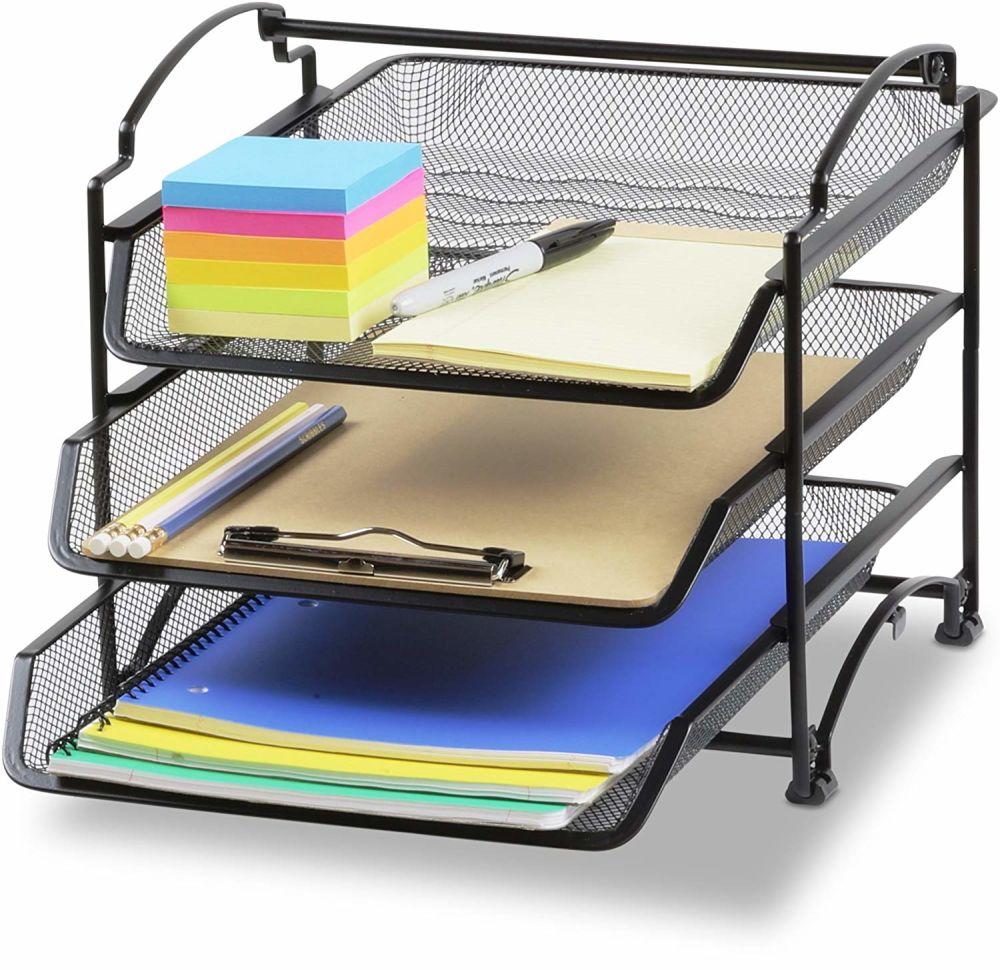 Shop For PERSPEKTIV STACKABLE Desktop Document Letter Tray Organizer, Black  At Wholesale Price On Crov.com