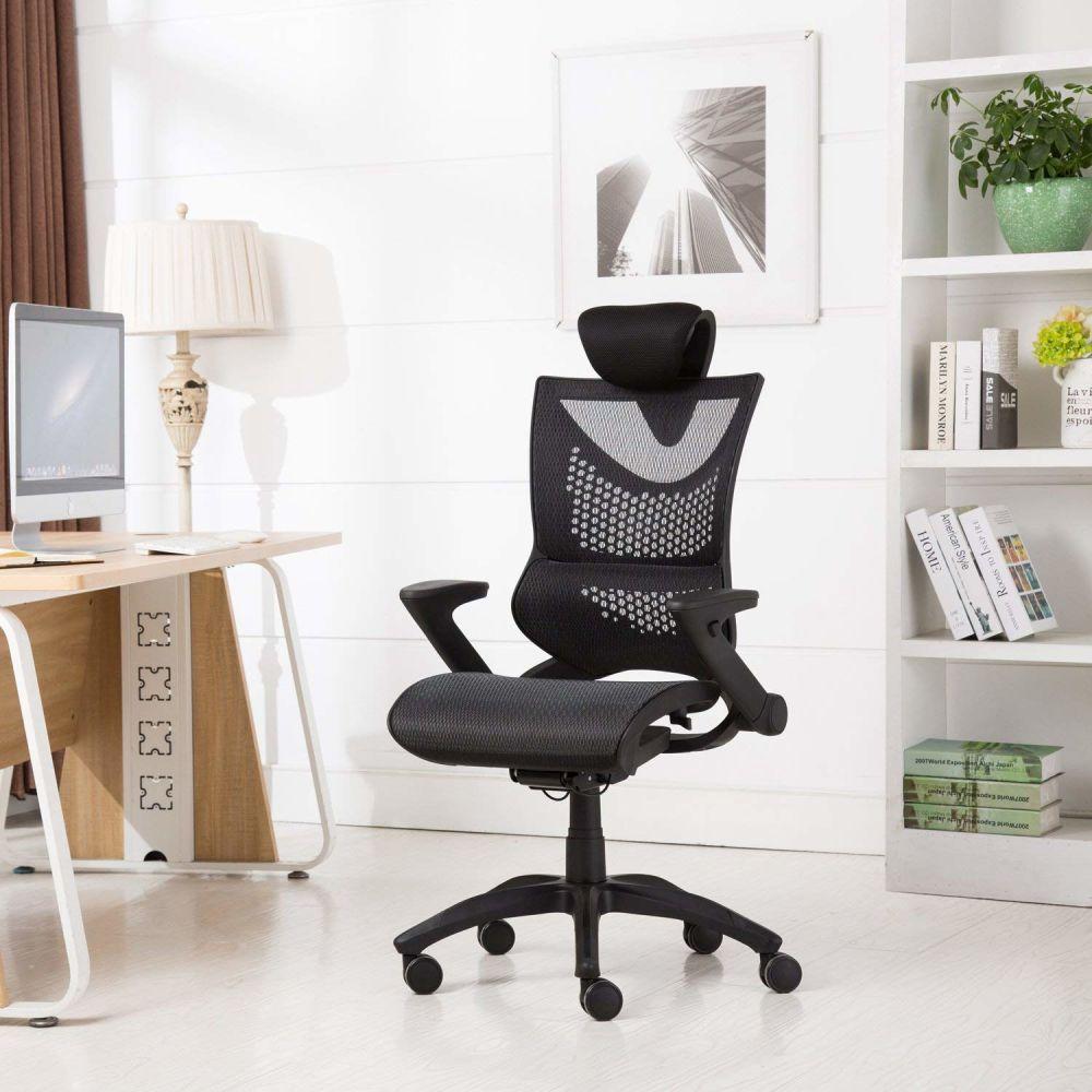 For Greenforest Ergonomic Office Chair Computer Executive Desk With Adjule Recline Locking Mechanism Mesh High Backrest Slider Seat 3d