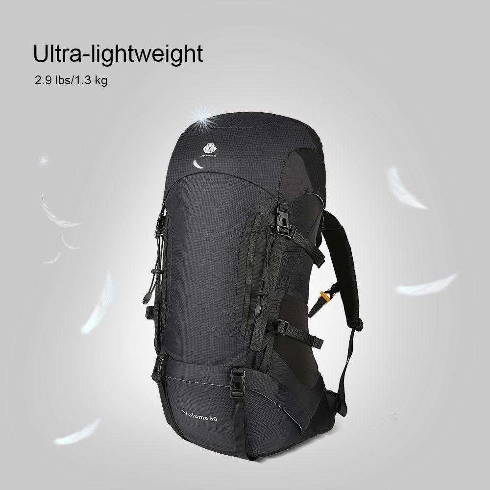50L Hiking Backpack For Men and Women Lightweight and Waterproof With  Internal Frame Large Ultralight Travel Outdoor Sport Camping Breathable Bag  With Mesh ... 67572e456f21d