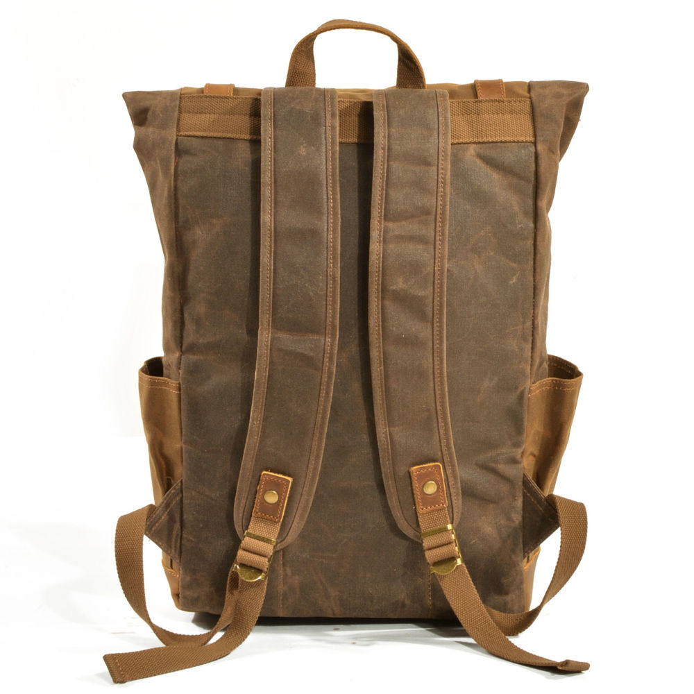 921309a8f Vintage Heavy Duty Backpack Leather And Canvas- Fenix Toulouse Handball