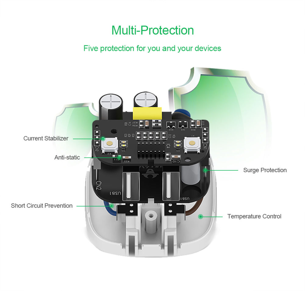 Shop For Bull Dual Usb Wall Charger With Smart Auto Power Off Mobile Phone Travel Circuit Diagram This Plus Can Automatically Cut Supply When Your Device Is Fully Charged Which Efficiently Avoids Battery Damage By