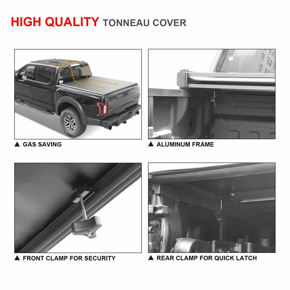 For 2016 2018 Ford F150 6 5ft Short Bed Tri Fold Tonneau Cover Soft Bed New Auto Parts And Vehicles Truck Bed Accessories Sistemas Certoclick Com Br