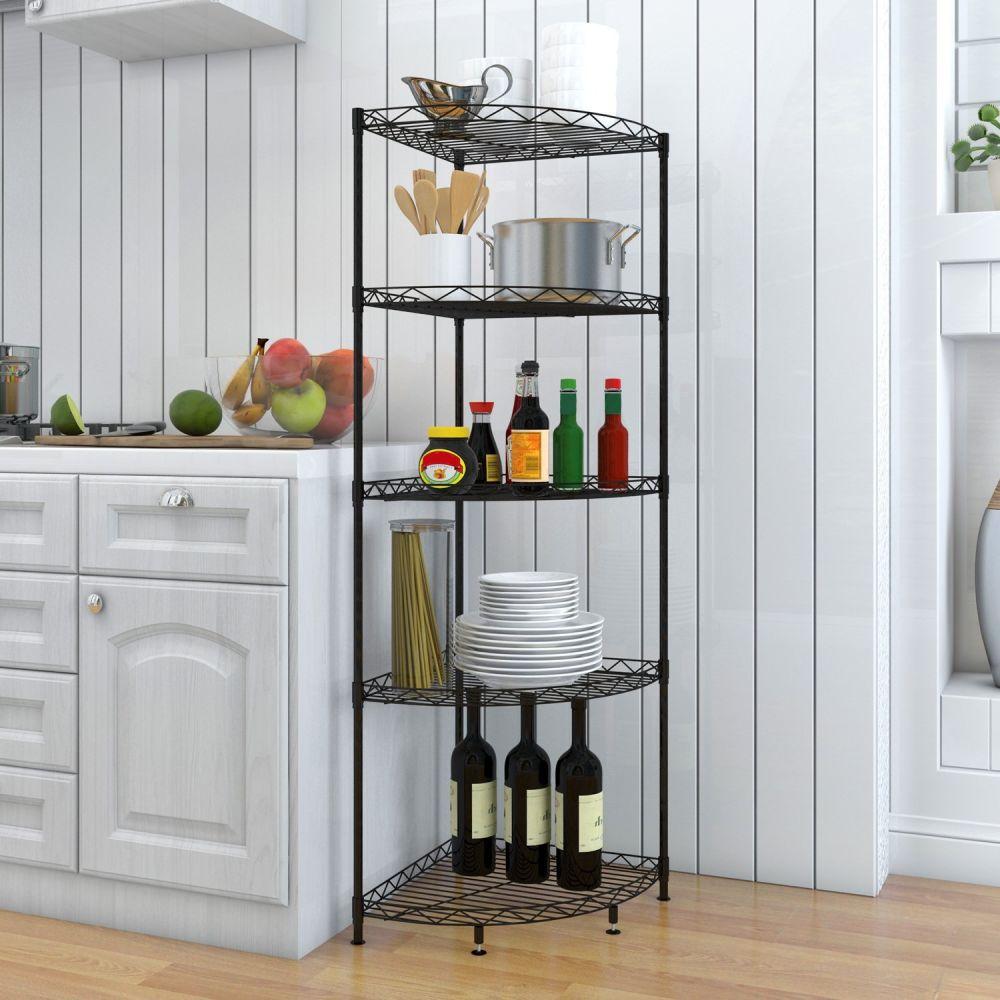 Shop for Lifewit Corner Shelf Space-saving 5-Tiers Adjustable Metal ...