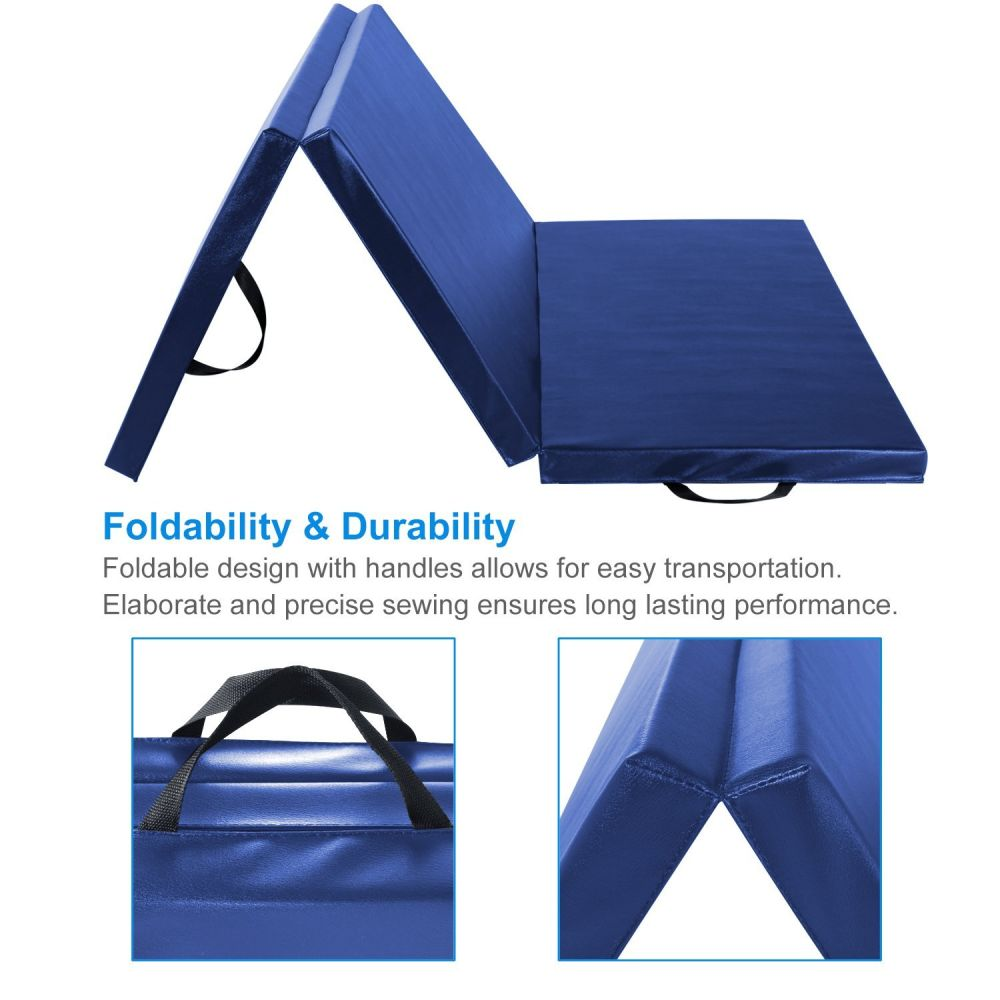 color exercise folding products mats mat prosource tri blue fold