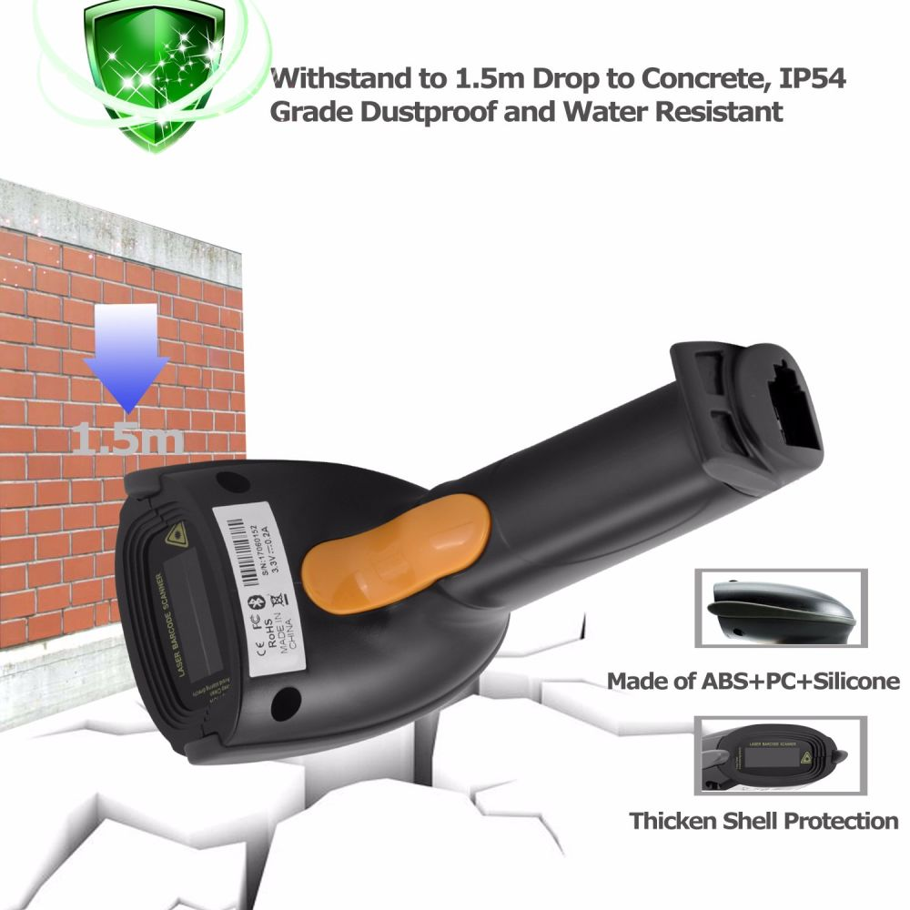 Shop for Wireless Bluetooth Handheld Barcode Scanner, for