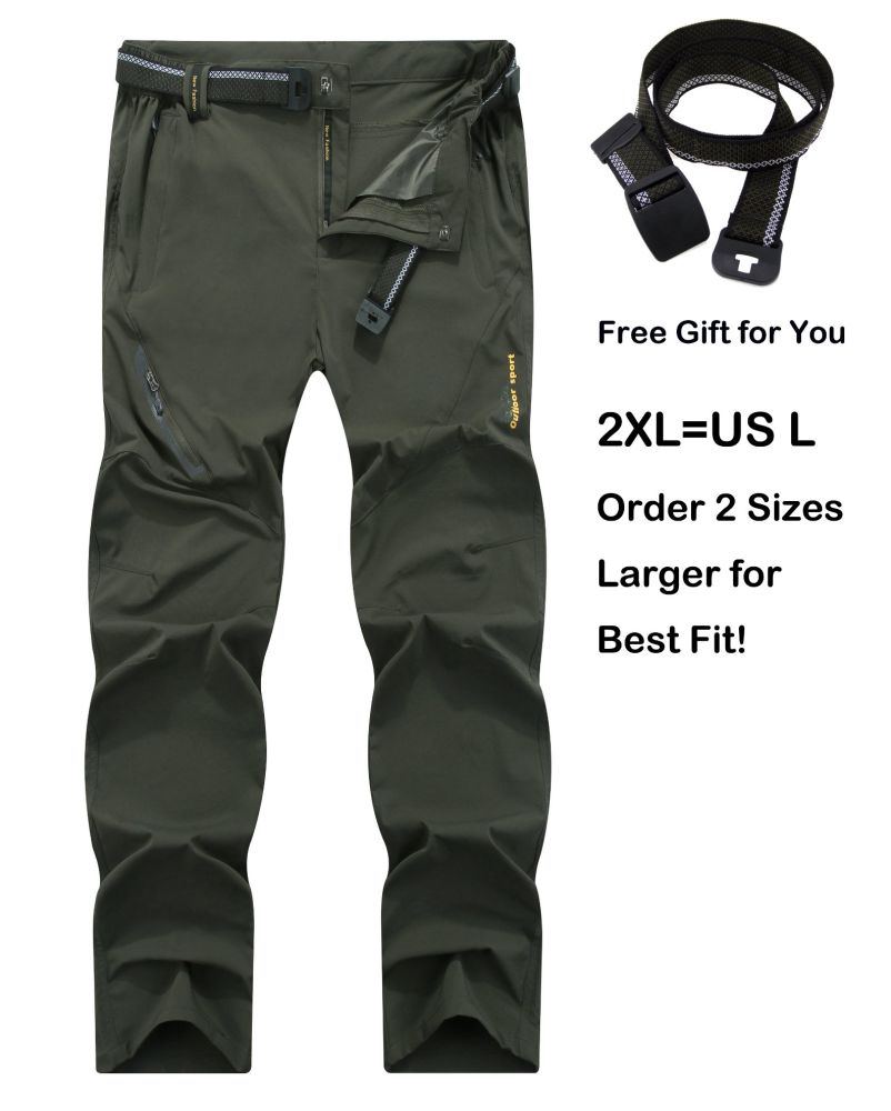 911d8d97a5 SUPERBHUNT Hiking Pants Men: Moisture Wicking Trekking Pants Quick Dry Slim  Fit Lightweight Stretch Camping Pants Spring Summer Early Fall Olive Green  1 Bag ...