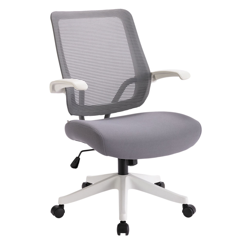 Mesh Task Chair (White frame with gray mesh)