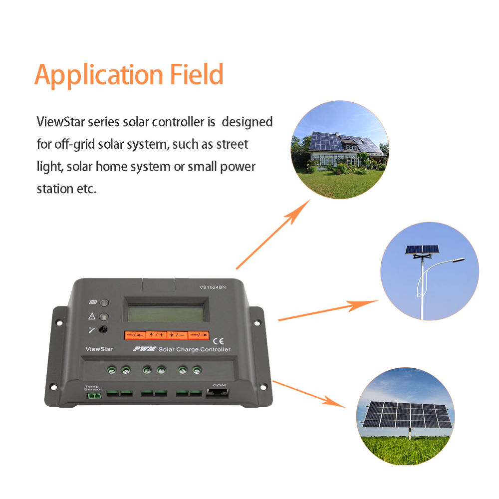 Shop For Epever Pwm Solar Charge Controller 10a 12v 24v Auto Work With Lcd Display Vs1024bn At Wholesale Price On