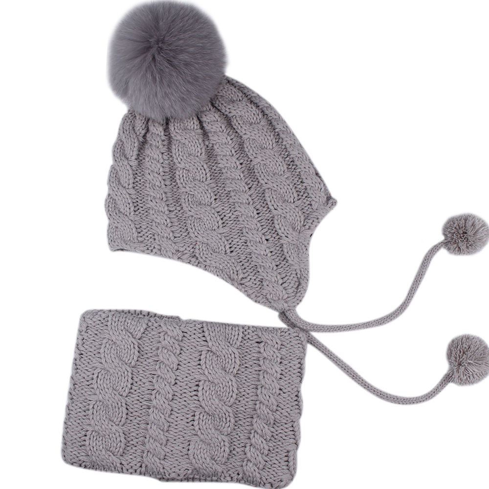4752024007255 Shop for FURTALK Kids Winter Hat and Scarf Set for Baby Girls Boys Toddler  Knit Beanie Hat Fox Fur Pom Pom Ears Flap Hats Fleece Lining SFFW004 at  Wholesale ...