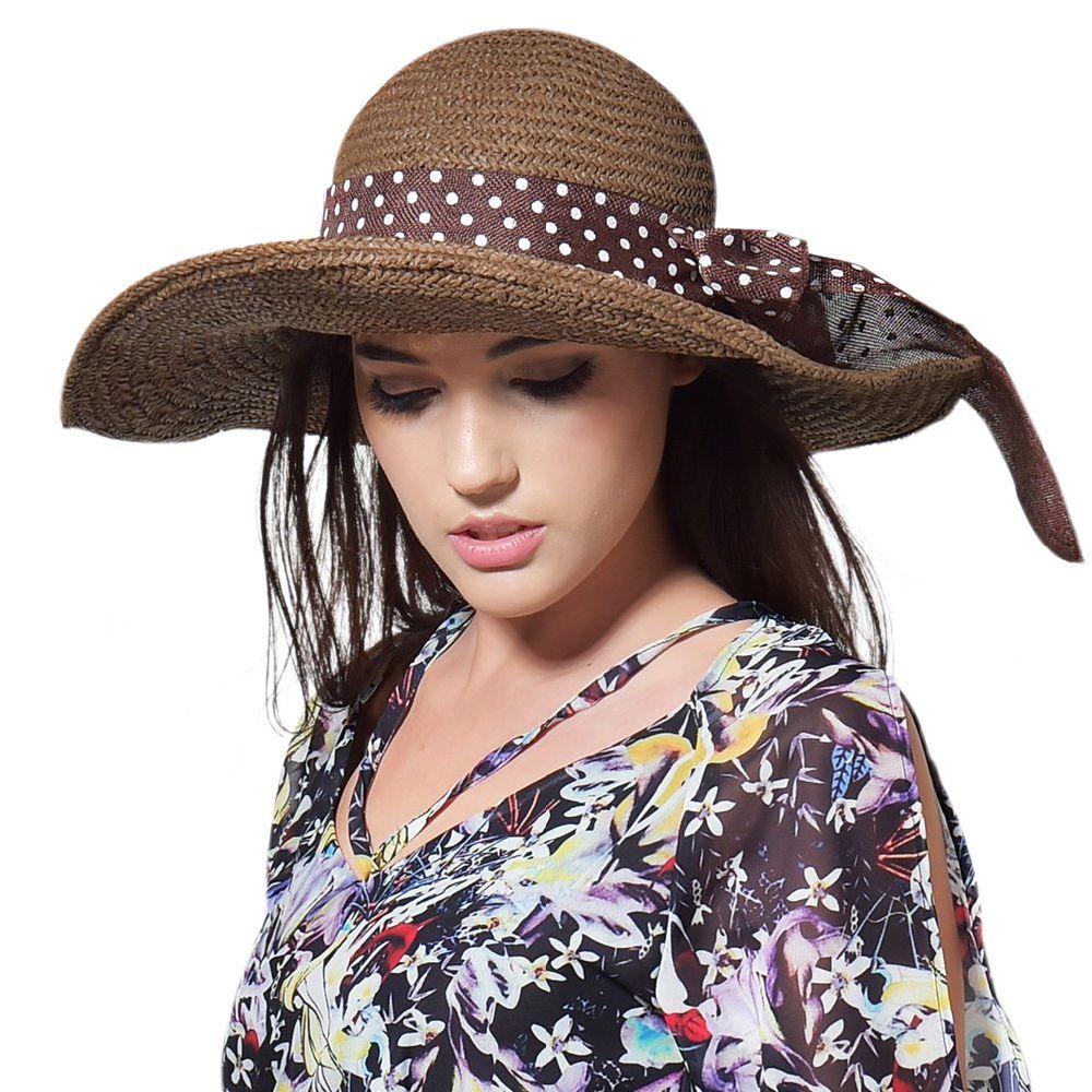 892da362c Shop for FURTALK Women Summer Paper Big Brim Straw Sun Hat Drop ...