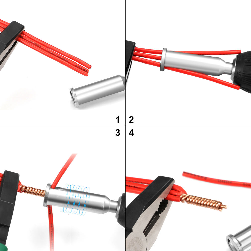 Electrical Cable Connector Wire Twisting Tools For Power Drill Driver Accessory