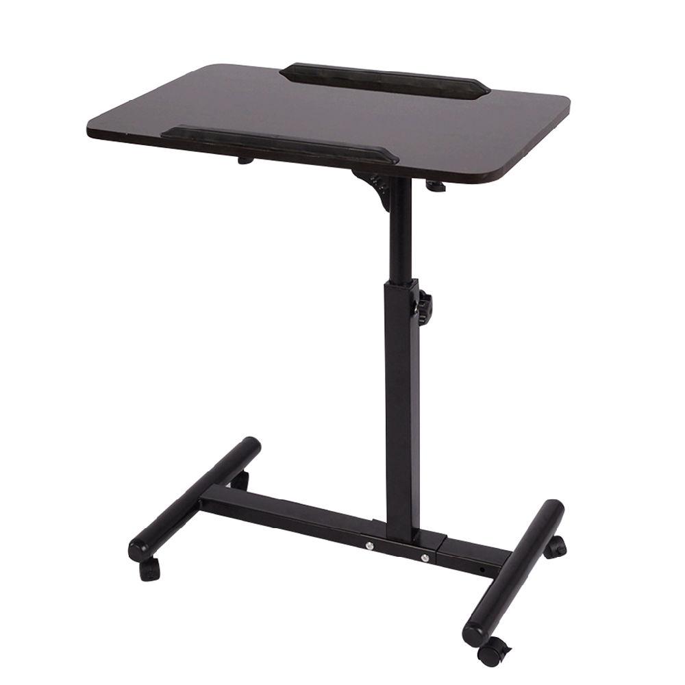 For Qwork Mobile Laptop Desk Cart Projector Stand Overbed Table Height And Angel Adjule 360 Swivel 180 Tilt Spliting