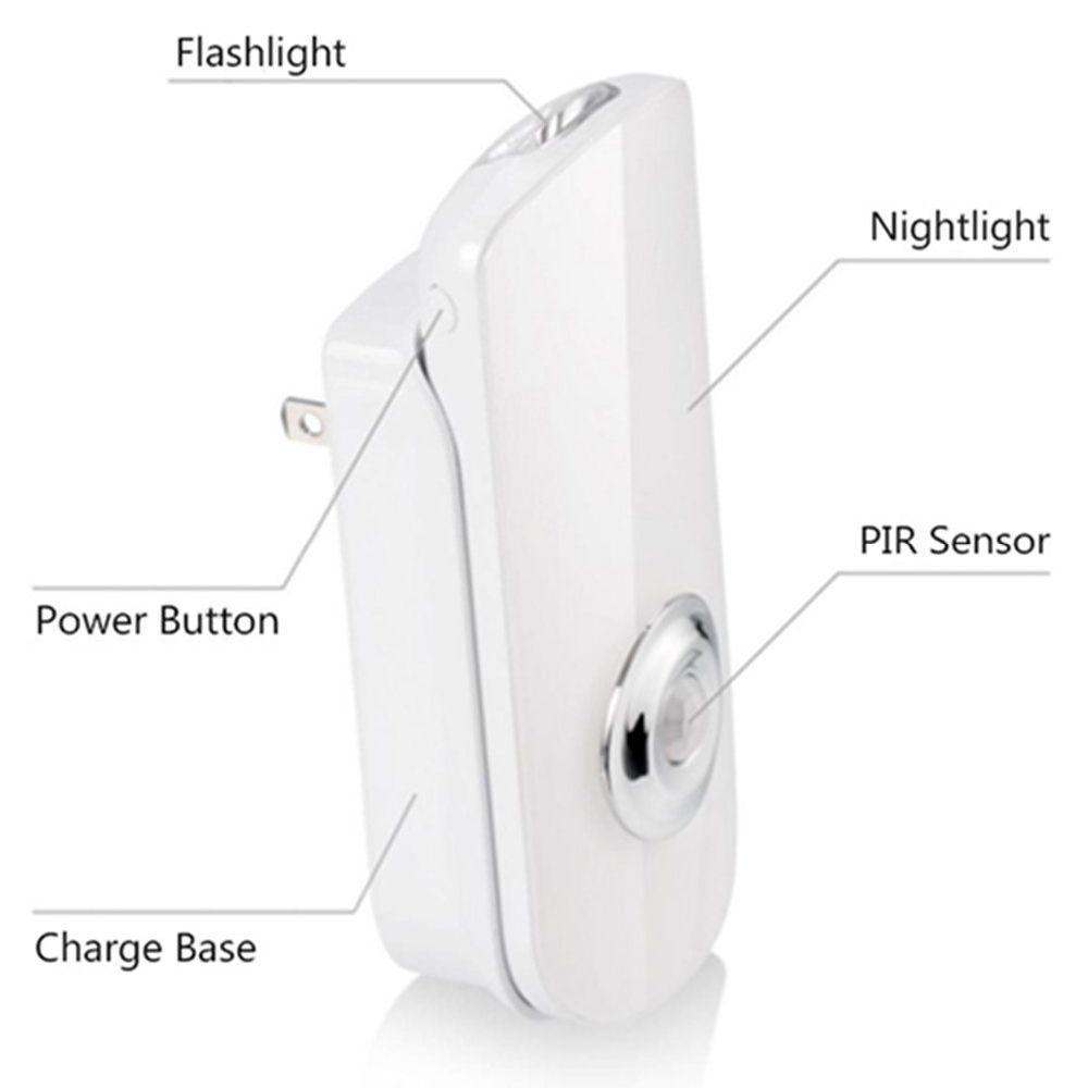 Shop For Led Night Light Flashlight Motion Sensor Cut Light 3 In 1