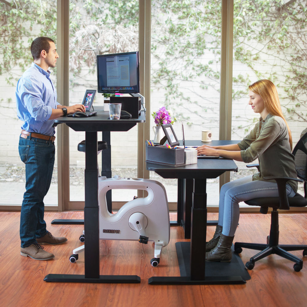 equipment shop laptop bike exercise indoor workstation desk stationary loctek cardio cycling office