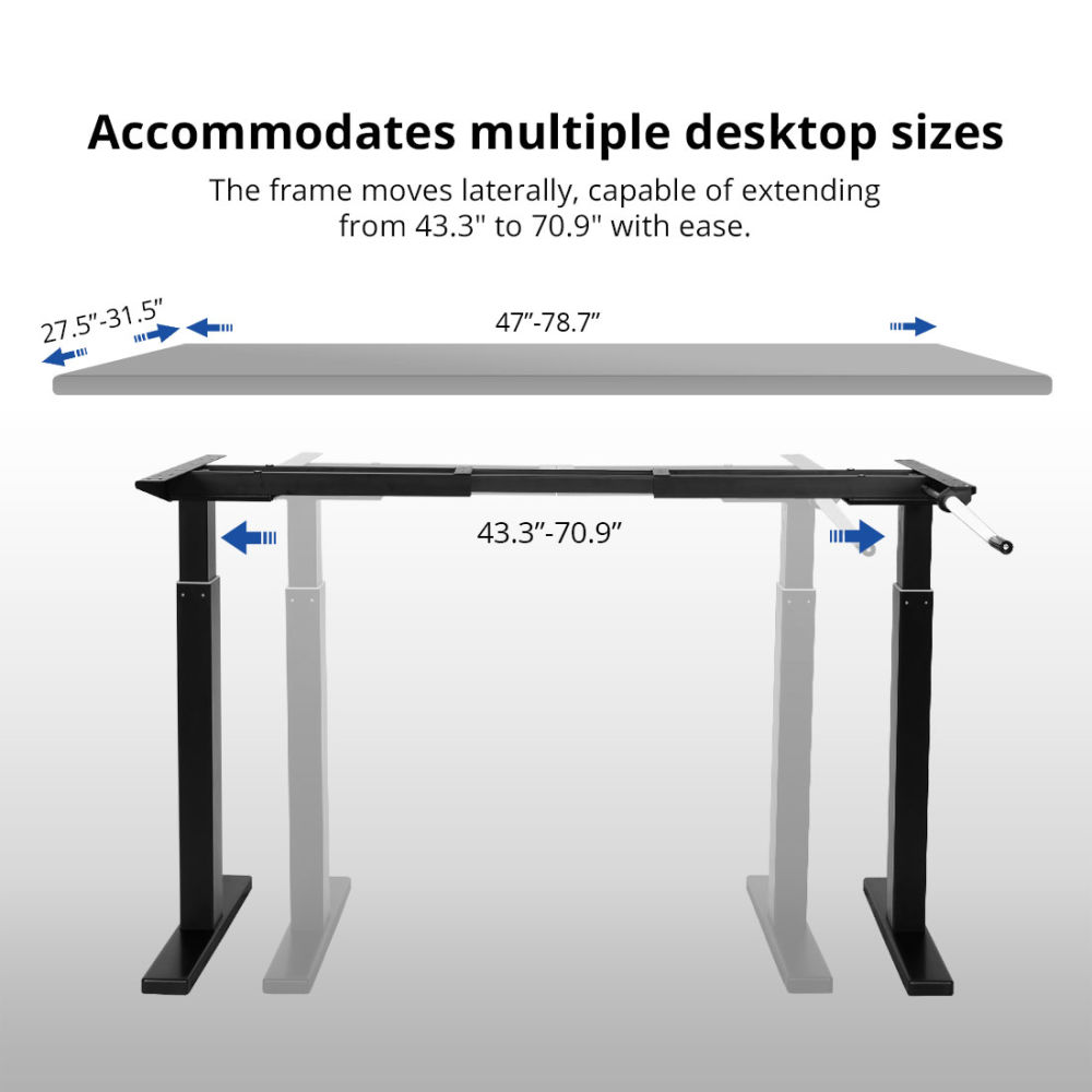 For Top 3 Fastest Growing Brand Flexispot 48 Crank Height Adjule Office Workstation Black Frame Only Standing Desk Leg At Whole On