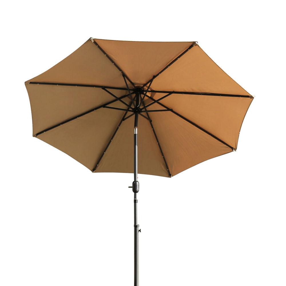 Shop for Kinbor Patio Umbrella 9 Ft Table Metal Solar Powered LED ...