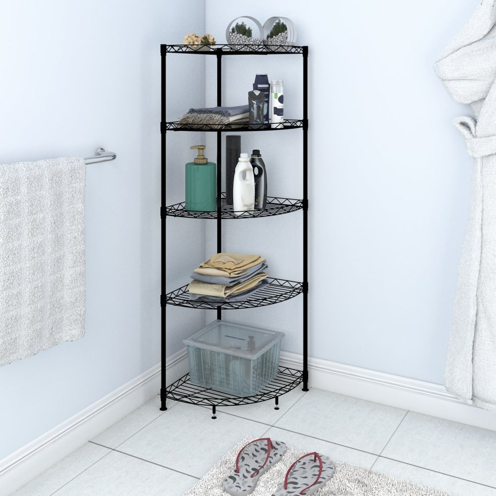 Shop for Lifewit Corner Shelf Space-saving 5-Tiers Adjustable Metal ...