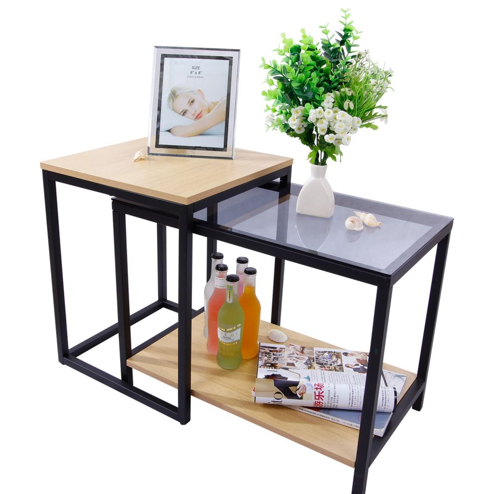 Shop for lifewit 2 piece end table nesting sofa side table set shop for lifewit 2 piece end table nesting sofa side table set coffee accent table at the competitive price on crov watchthetrailerfo