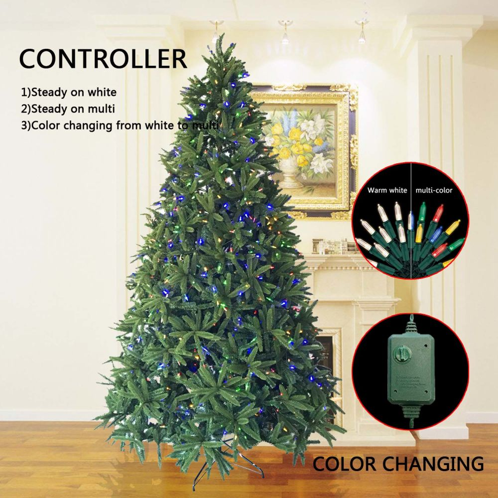 shop for decorated christmas trees 4 foot fir tree with 80 led lights easy assembly warm white at wholesale price on crovcom
