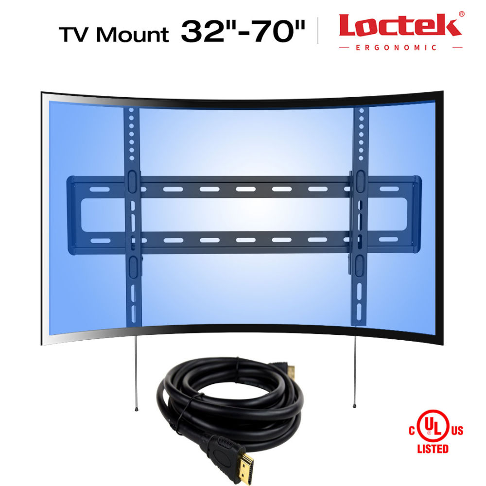 cafa70c2bd3 Shop for Loctek Curved Panel UHD HD Fixed TV Wall Mount Bracket for Most of  32-70 Inches LED