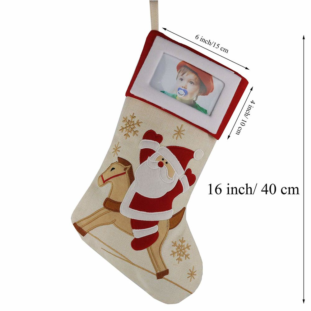 Shop For Creative Christmas Stockings With Photo Frame Holder
