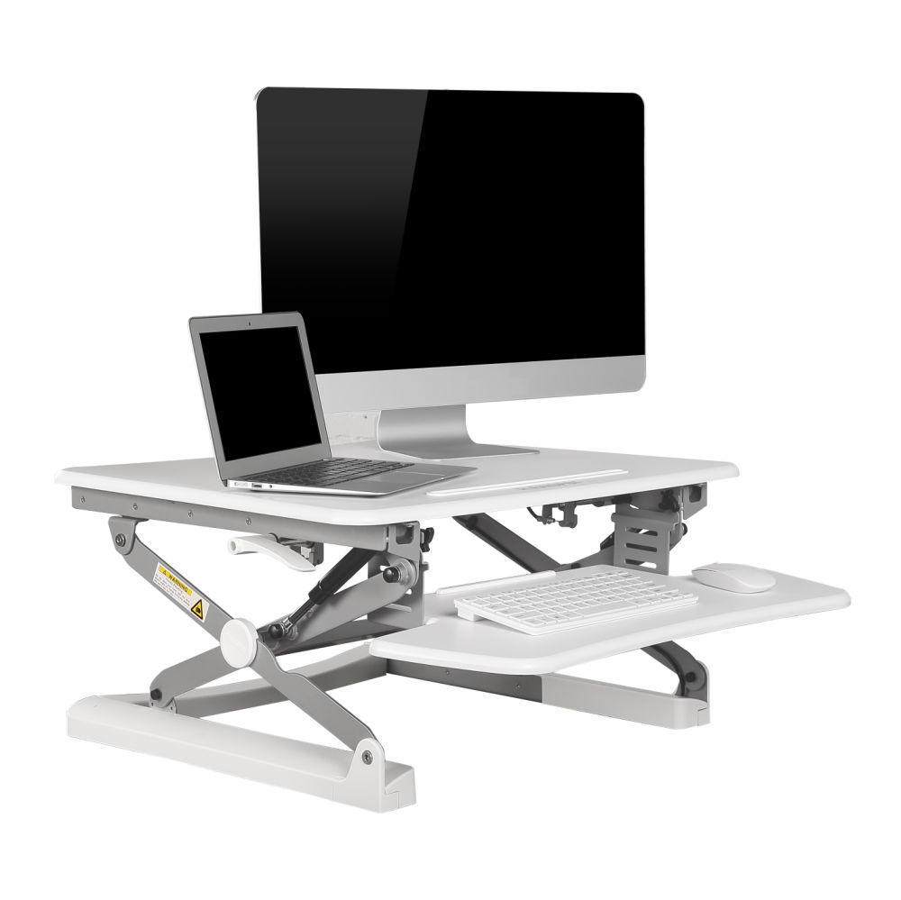 For Flexispot 27 Wide Platform Height Adjule Standing Desk Riser Stand Up Removable Keyboard Tray White M1w S Size At Whole On
