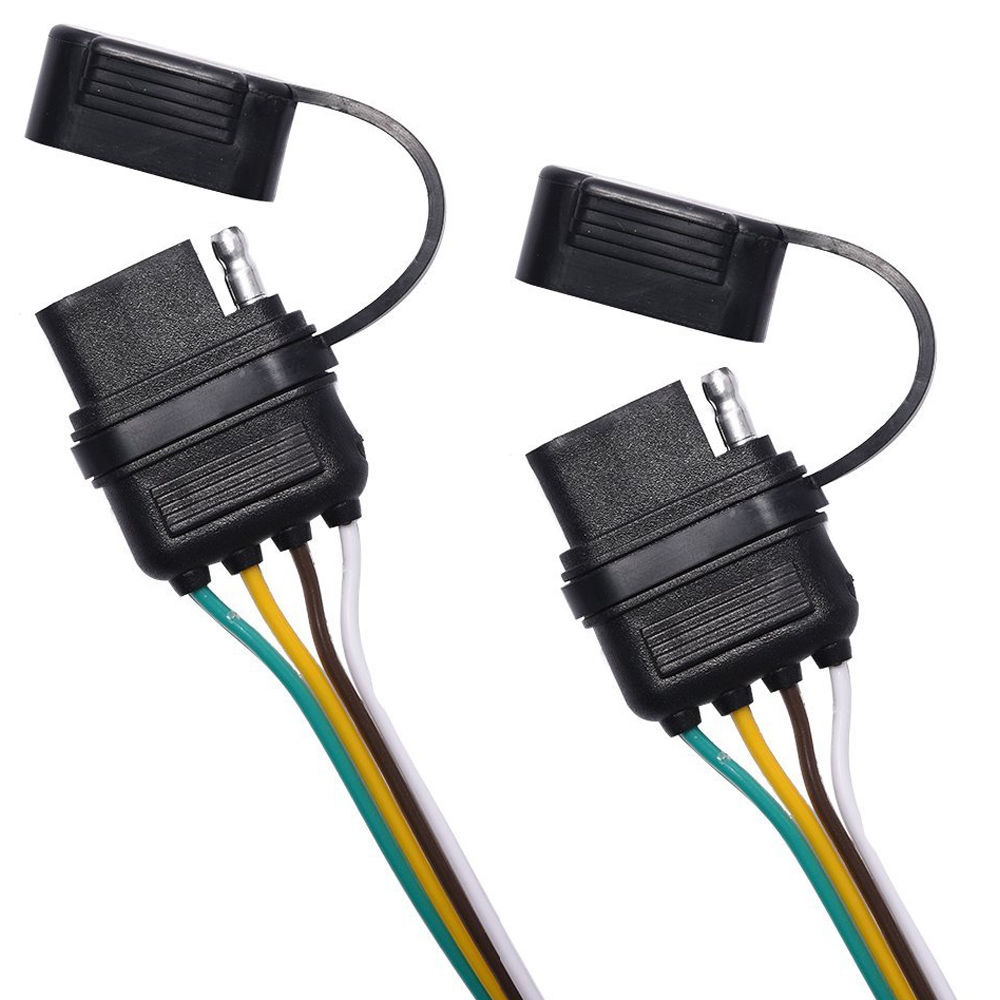 Shop For 2 Way Trailer Splitter 4 Flat Y Wiring Connector Adapter There Is 175 Long Of The Harness It Has Designed One Male And Two Female Connectors In Combo That Allows You To Fit