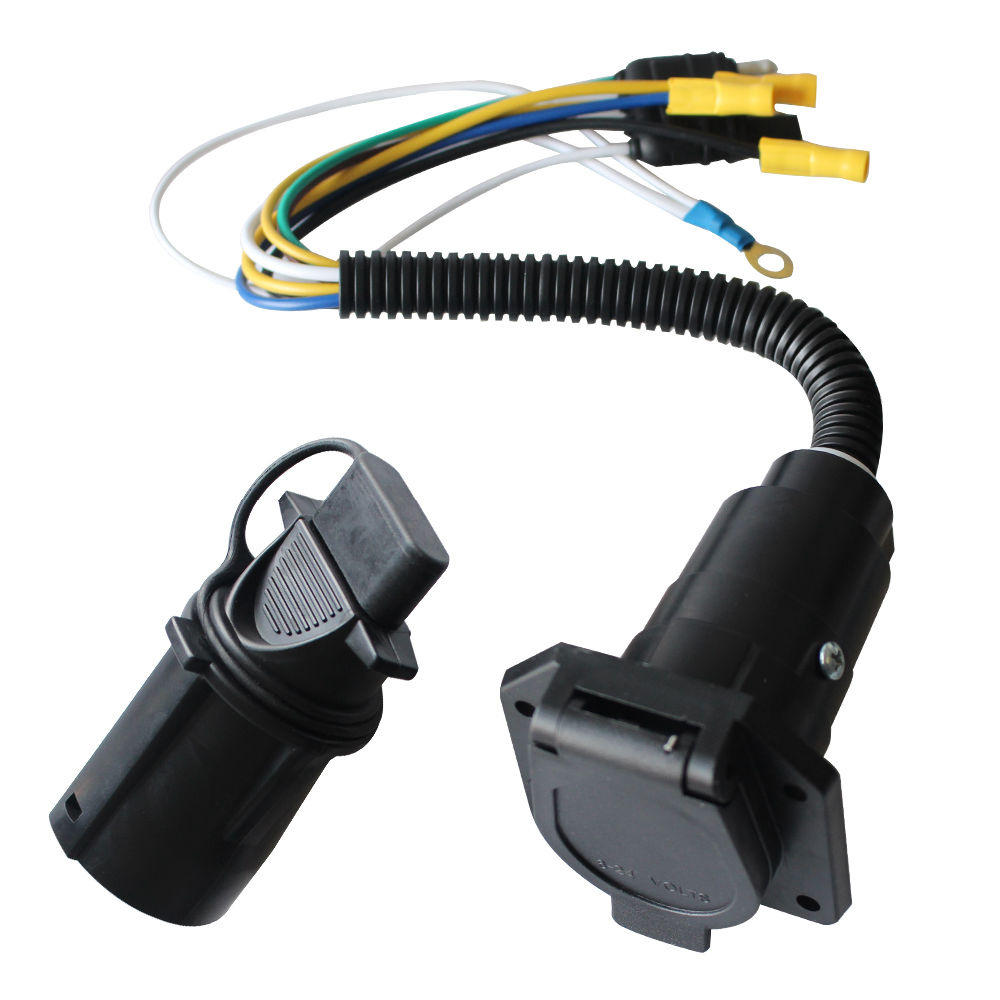Shop For 4 Wire Flat To 7 Way Vehicle End Connector Rv Trailer Harness Adapter Parts At Wholesale Price On