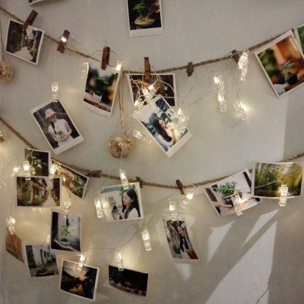 Shop For Photo Clip Led String Lights 21ft 40 Photo Pegs