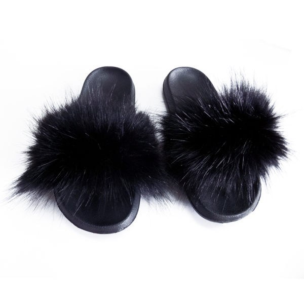 5pcs Nice Quality Faux Fur Slides Slipper For Women