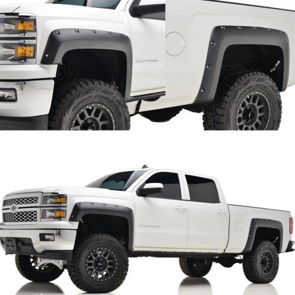 Shop for 2015 Chevrolet Silverado 1500 2500HD 3500HD 5.8' Short Bed Pocket Fender Flares, Black ...