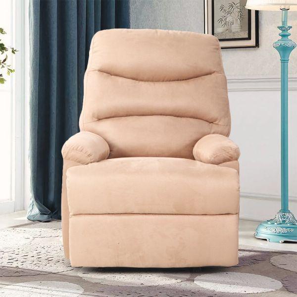 Marvelous Qwork Single Recliner Armchair Ergonomic Reclining Sofa Chair Home Accent Chair Elegant And Comfortable Microfibre 1 Unit Box Dailytribune Chair Design For Home Dailytribuneorg