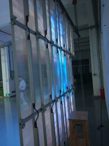 Indoor P3 9mm Transparent LED Curtain Display Screen LED Video Wall 6  Pieces / Case