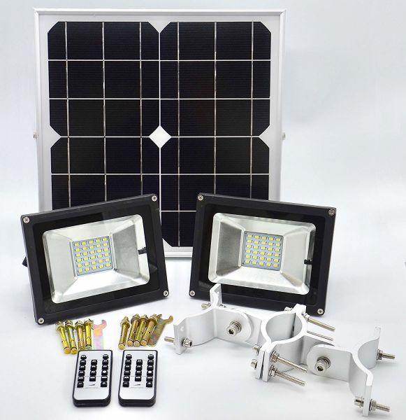 Shop For Sunwebcam 60 Led Solar Flood Light Twin Head Outdoor