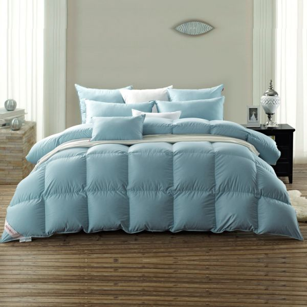 SNOWMAN Luxury White Goose Down Comforter Queen Size 100% Luxury Cotton  Cover Down Proof Blue 8ed45a06c