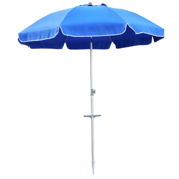 Snail Beach Umbrella 7 Ft Sand Anchor With Tilt Aluminum Pole Portable Sun Ray Protection Carry Bag For Outdoor Patio Dark Blue