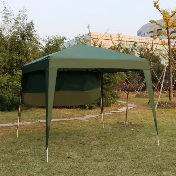Kinbor 10Ft x 10Ft Pop-up Canopy Tent Portable Instant Folding Canopy  Outdoor Wedding Party Gazebo Tent w/ 1 Sidewall 1 Piece / Box