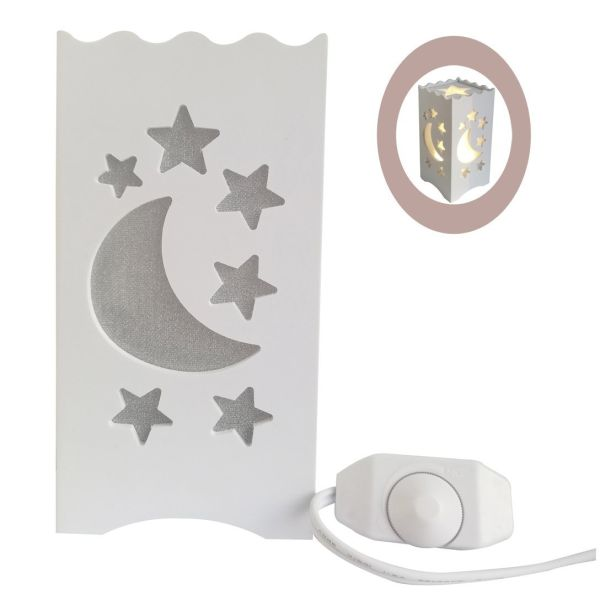 Shop For Dimmable Kids Night Light Bedside Lamp White Moon Star