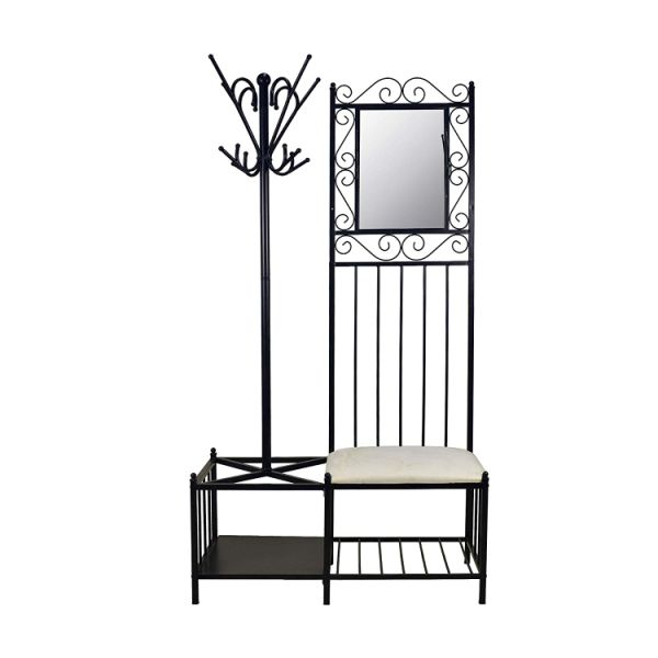Shop For Circlelink Metal Hall Tree Black Finish Hallway Storage