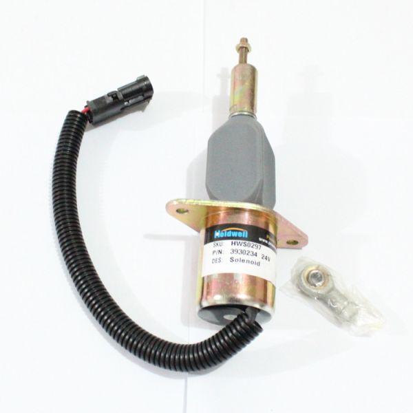 Holdwell Fuel Shutdown Solenoid 3930234 for Cummins 6CT 8 3L Komatsu  Excavator 24VDC 1 Piece / Box