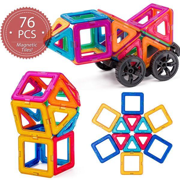 76pcs Educational Magnetic Sticks Building Blocks Toys Set Kids Children Gifts