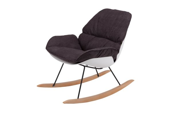 Modern Rocking Chair Set Of 2   Eames Chair Rocker, Molded Plastic Lounge  Armchair With