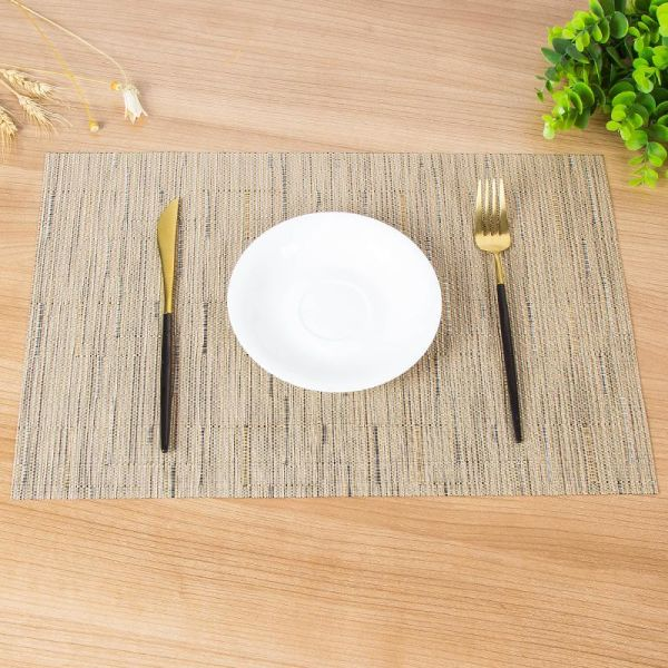 Placemats Heat Resistant Dining Table Place Mats Anti Skid Washable Pvc Kitchen Bzj01 300 Pieces Box