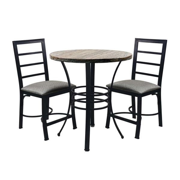 Circlelink 3 Piece Bistro Kitchen Dining Table and Chair Set 1 Unit / Carton