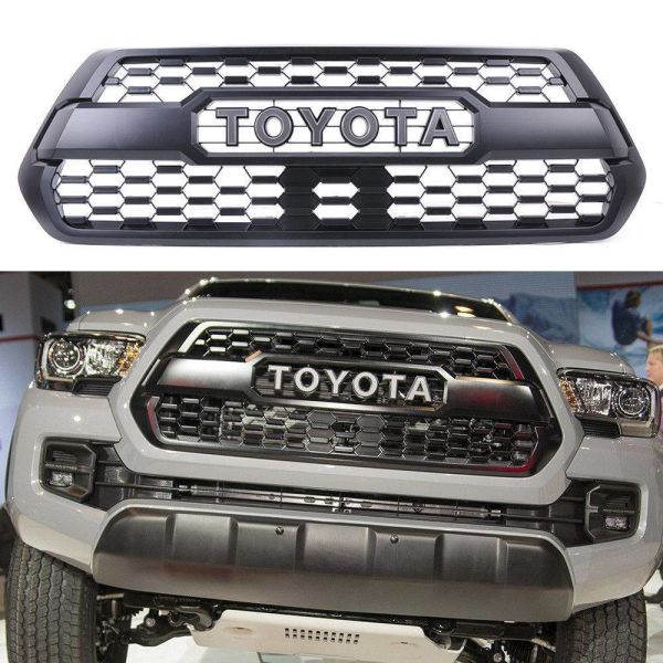 Front Per Hood Grille Matte For Toyota Tacoma Trd Pro 2016 2017 2018