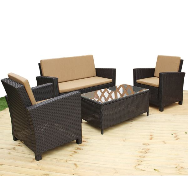 Shop For Heredeco 4 Pcs Outdoor Rattan Wicker Sofa Patio Furniture