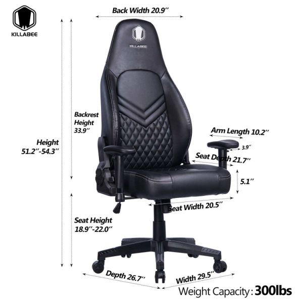 Shop For Killabee Memory Foam Gaming Chair Game Racing