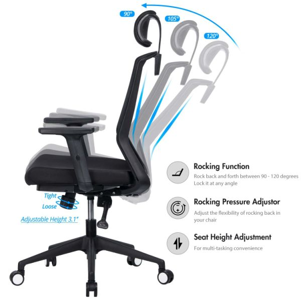 Shop For Vanbow High Back Mesh Office Chair Adjustable