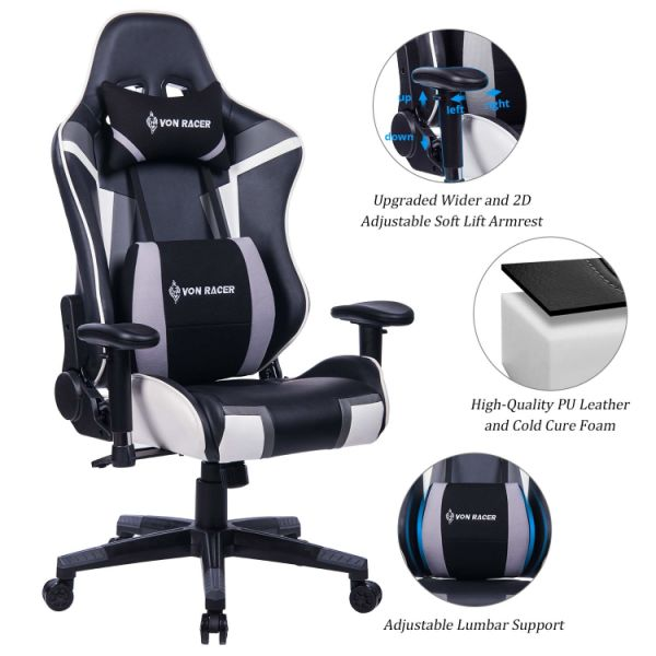 Shop For Von Racer Mutifunctional Memory Foam Gaming Chair