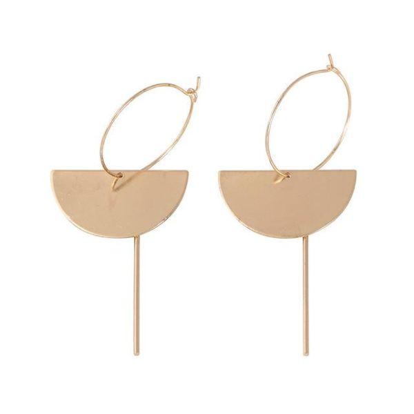 85159646485c Fashion Gold Color Women Simple Bar Drop Dangle Earrings Geometric Moon  Tassle Long Earrings Pendientes Summer